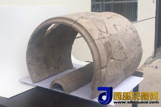 中国已知体量最大陶瓦现身陕西 为秦都高等级建筑构件