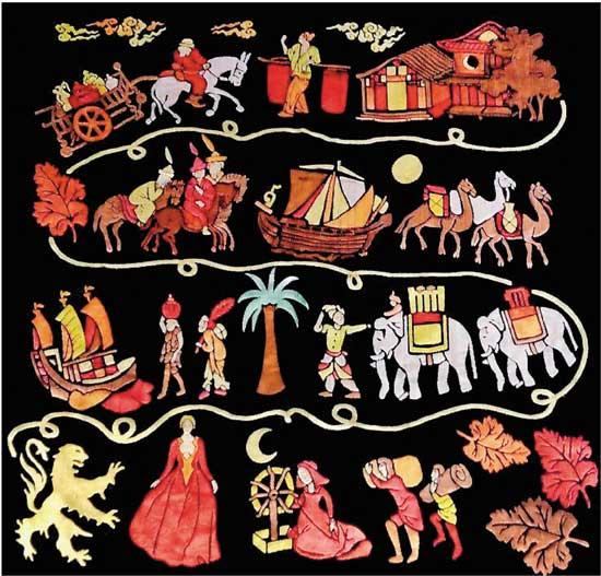 流光溢彩:法国丝绸艺术风格的演变