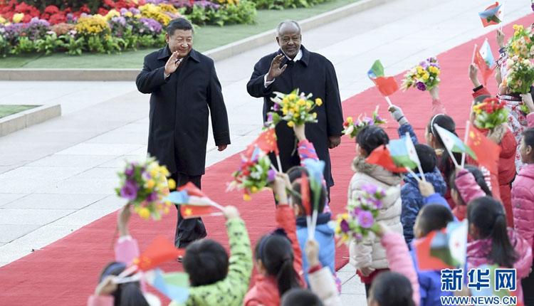 习近平会见吉布提总统 双方同意建立战