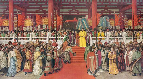 孙景波《贞观盛会》 实现历史真实与艺术真实的统一