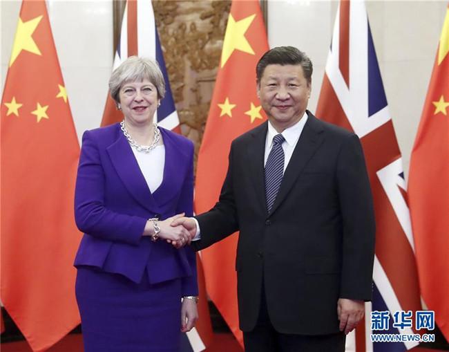 习近平会见英国首相特雷莎・梅