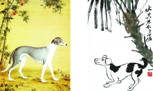 吠其不仁――画家笔下的爱犬神态