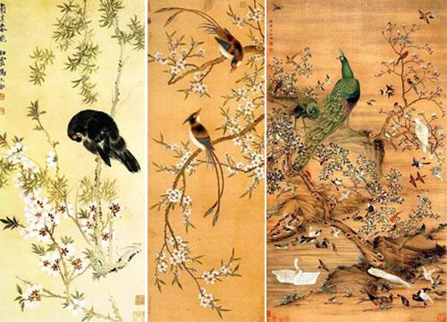 中国古画中看鸟语花香的春天