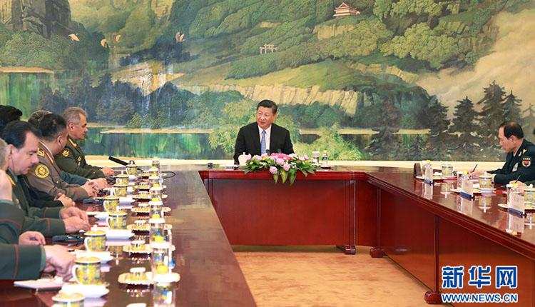 习近平集体会见上海合作组织成员国国