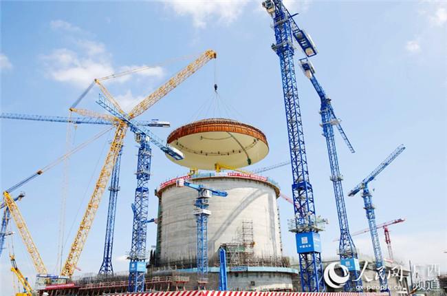 大国重器!我国自主核电技术华龙一号示范项目核岛封顶