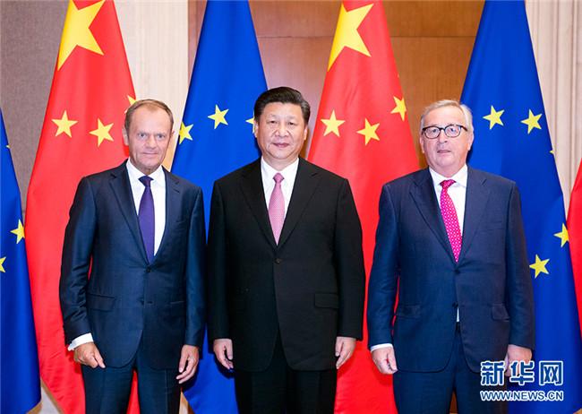 习近平会见欧洲理事会主席图斯克和欧