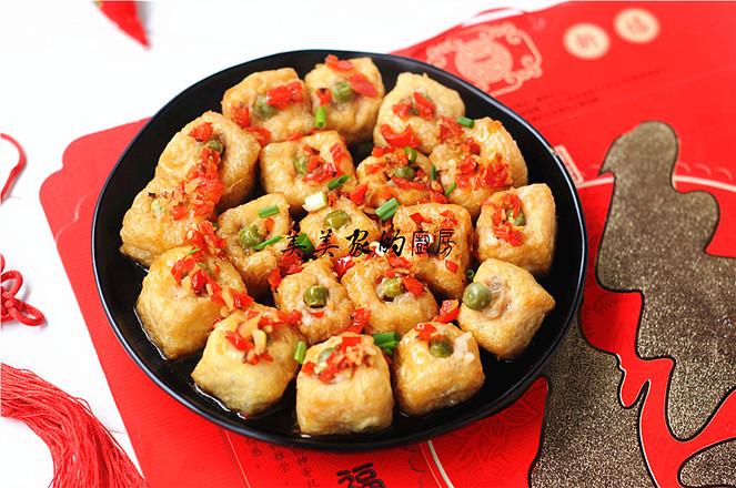 金玉满堂――油豆腐糯米饭的做法