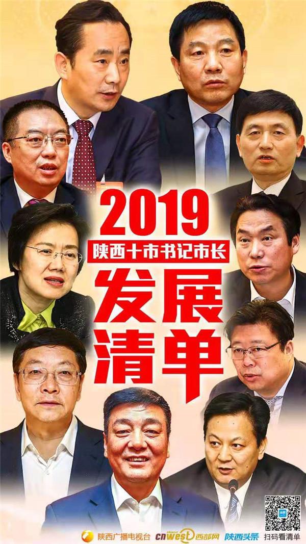 """2019 陕西10市书记市长的发展""""清单"""""""