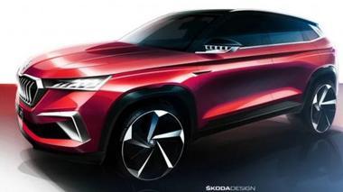 斯柯达公布Vision GT概念车设计图 2019深圳车展首秀