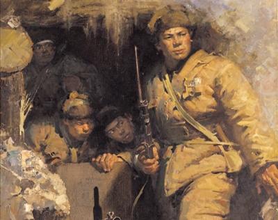 出击与突破:赏军事题材美术名作《出击之前》