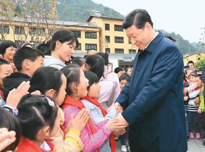 """""""大朋友""""习近平和孩子们在一起"""