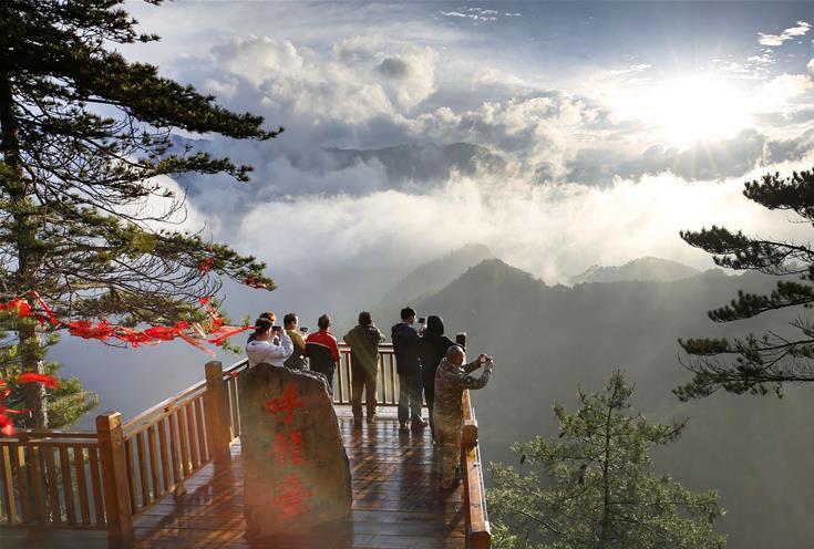 <b>陕西略阳:森林公园美若仙境</b>