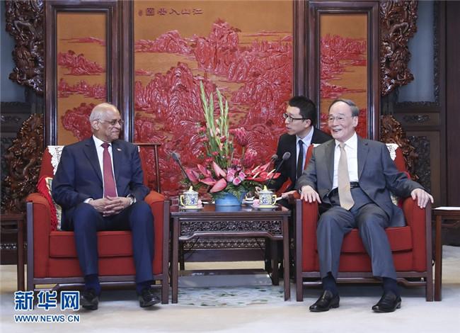 王岐山:中方愿加强同埃在非盟、阿盟框架下合作