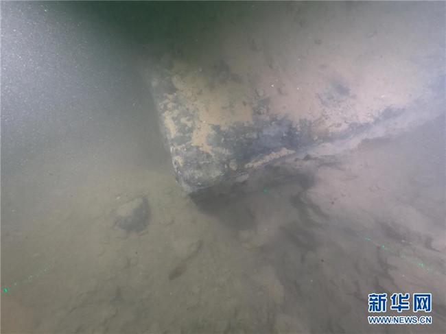 """定远舰""""沉舰遗址在威海发现"""
