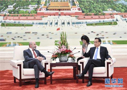 李克强会见美中贸易全国委员会访华代表
