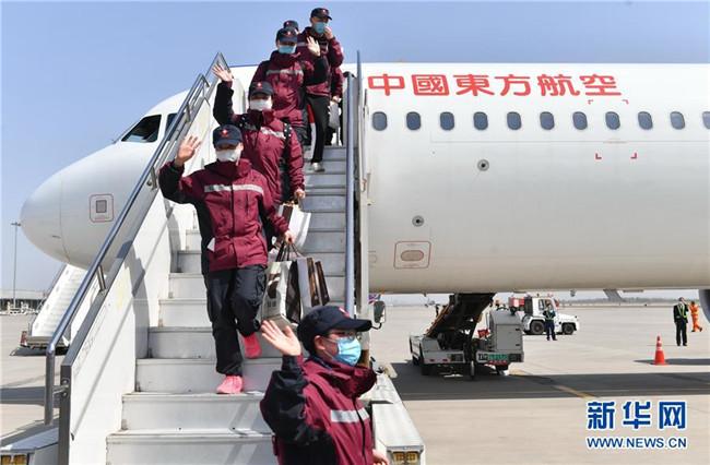 陕西省援鄂医疗队部分队员抵达西安