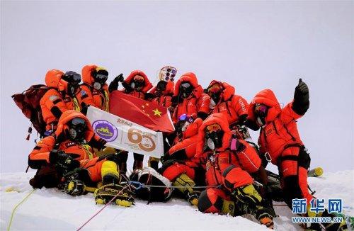 """成功登顶!中国测量登山队再测珠峰"""""""