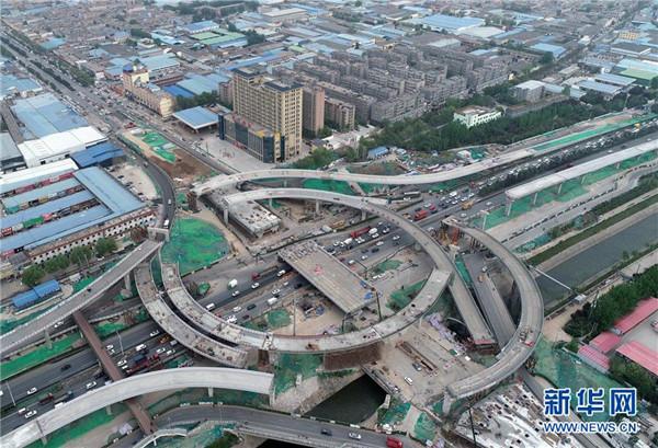 """西安昆明路高架桥""""十一""""有望全线贯通"""