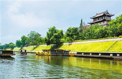 西安护城河景区10月1日建成并免费开放