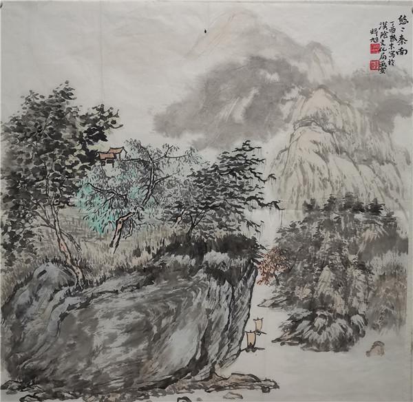 咬定青山不放松――观戴辉旭先生的山水画有感