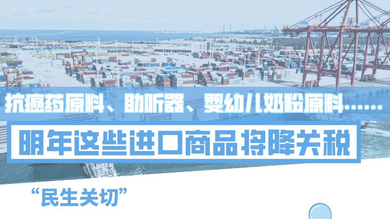 明年883项进口商品降关税!