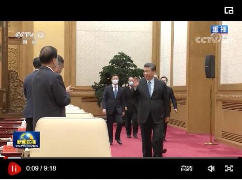 习近平同党外人士共迎新春 代表中共中