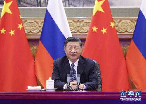 习近平同俄罗斯总统普京共同见证中俄