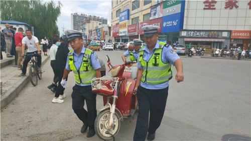 榆林靖边交警重拳出击严厉整治摩托车、电动车不戴安全